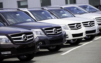 Mercedes Cars in a Row